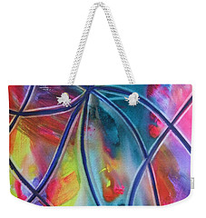 Faux Stained Glass 1 Weekender Tote Bag