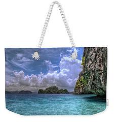 Favorite Color Blue Weekender Tote Bag
