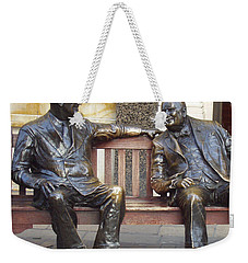 Fdr And Churchill Having A Chat In London Weekender Tote Bag