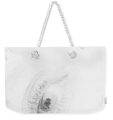 Weekender Tote Bag featuring the photograph Fear by Vicki Ferrari