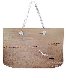 Feather On Sand Weekender Tote Bag by Cindy Garber Iverson