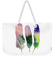 Feathers 4 Weekender Tote Bag by Luke and Slavi