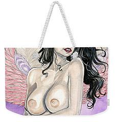 Feathers Weekender Tote Bag by Jimmy Adams