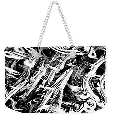 Black And White Abstract Weekender Tote Bag