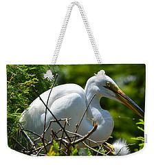 Weekender Tote Bag featuring the photograph Feed Me Mom by Judith Morris
