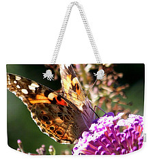 Weekender Tote Bag featuring the photograph Feeding by Eunice Miller