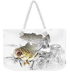 Feeding Largemouth Black Bass Weekender Tote Bag by Randall Nyhof