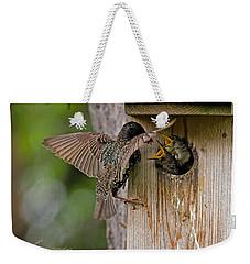 Feeding Starlings Weekender Tote Bag