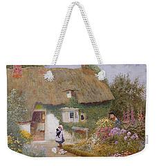 Feeding The Pigeons Weekender Tote Bag by Arthur Claude Strachan