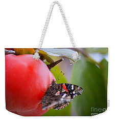 Weekender Tote Bag featuring the photograph Feeding Time by Erika Weber