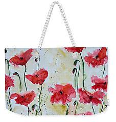 Feel The Summer 1 - Poppies Weekender Tote Bag by Ismeta Gruenwald