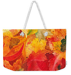 Weekender Tote Bag featuring the painting Feeling Fall by Irina Sztukowski