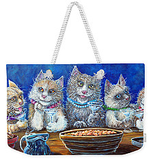 Felines After Five Weekender Tote Bag