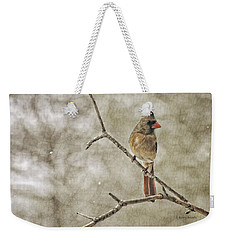 Female Redbird Weekender Tote Bag by Kenny Francis