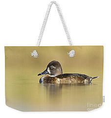 Weekender Tote Bag featuring the photograph Female Ring Necked Duck by Bryan Keil