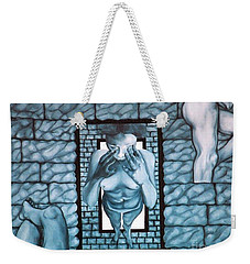 Weekender Tote Bag featuring the painting Female's Gray World by Fei A