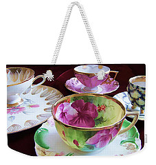 Feminine High Society Ladies Tea Party Weekender Tote Bag