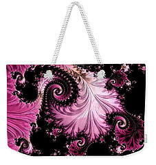 Weekender Tote Bag featuring the digital art Femme Fatale Fractal by Susan Maxwell Schmidt