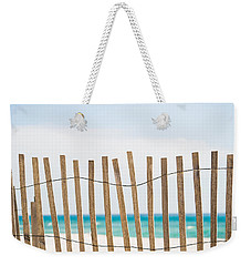 Fence On The Beach Weekender Tote Bag by Shelby  Young