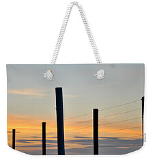 Fence Posts At Sunset Weekender Tote Bag