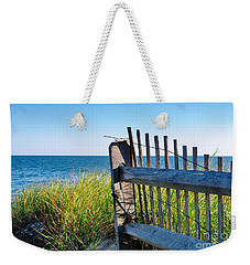 Weekender Tote Bag featuring the photograph Fence With A Great View by Mike Ste Marie