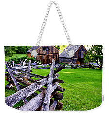 Fences At Burnside Plantation Bethlehem Pa Weekender Tote Bag