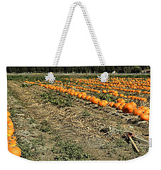 Fencing The Pumpkin Patch Weekender Tote Bag by Michael Gordon