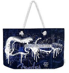 Fender Blueprint Washout Weekender Tote Bag by Gary Bodnar