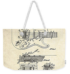 1956 Fender Tremolo Patent Drawing I Weekender Tote Bag by Gary Bodnar