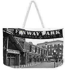 Fenway Park Banner Black And White Weekender Tote Bag