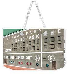Fenway Park Scoreboard Weekender Tote Bag