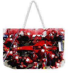 Ferrari Make Changes In Pit Lane Weekender Tote Bag
