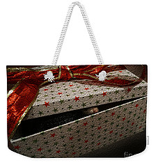 Weekender Tote Bag featuring the photograph Ferrety Christmas by Cassandra Buckley