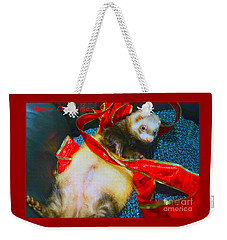 Weekender Tote Bag featuring the photograph Ferrety Christmas IIi by Cassandra Buckley