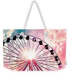 Ferris Wheel In Pink And Blue Weekender Tote Bag
