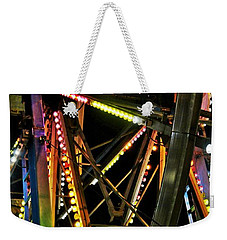 Weekender Tote Bag featuring the photograph Lit Ferris Wheel  by Lilliana Mendez