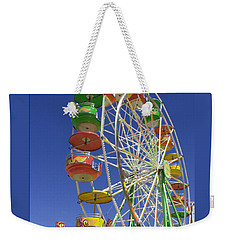 Weekender Tote Bag featuring the photograph Ferris Wheel by Marcia Socolik