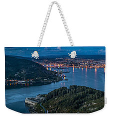 Weekender Tote Bag featuring the photograph Ferrol's Estuary Panorama From La Bailadora Galicia Spain by Pablo Avanzini