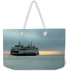 Ferry Sealth In The Fog Weekender Tote Bag by E Faithe Lester