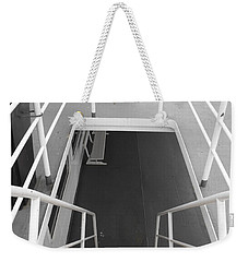 Weekender Tote Bag featuring the photograph Ferry Stairwell by Marilyn Wilson