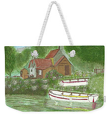 Weekender Tote Bag featuring the painting Ferryman's Cottage by Tracey Williams