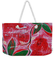 Weekender Tote Bag featuring the painting Festive Garden 1 by Jocelyn Friis