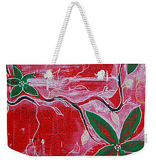 Weekender Tote Bag featuring the painting Festive Garden 2 by Jocelyn Friis