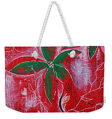 Weekender Tote Bag featuring the painting Festive Garden 3 by Jocelyn Friis