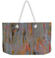 Weekender Tote Bag featuring the painting Fibres Of My Being by Mini Arora