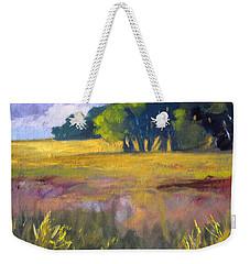 Field Grass Landscape Painting Weekender Tote Bag