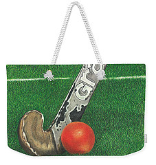 Field Hockey Weekender Tote Bag by Troy Levesque
