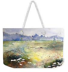 Field Of Daisies Weekender Tote Bag by Marilyn Zalatan