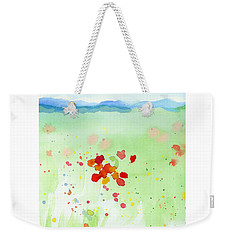 Weekender Tote Bag featuring the painting Field Of Flowers 2 by C Sitton