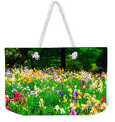 Field Of Iris Weekender Tote Bag